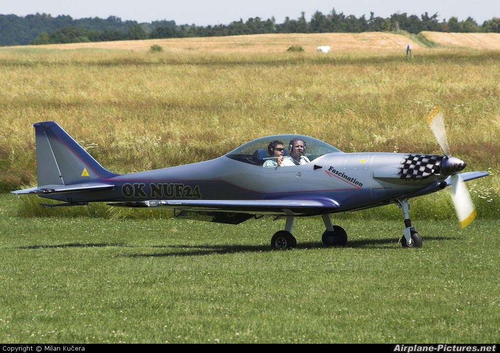 Private OK-NUF 24 aircraft at Benešov
