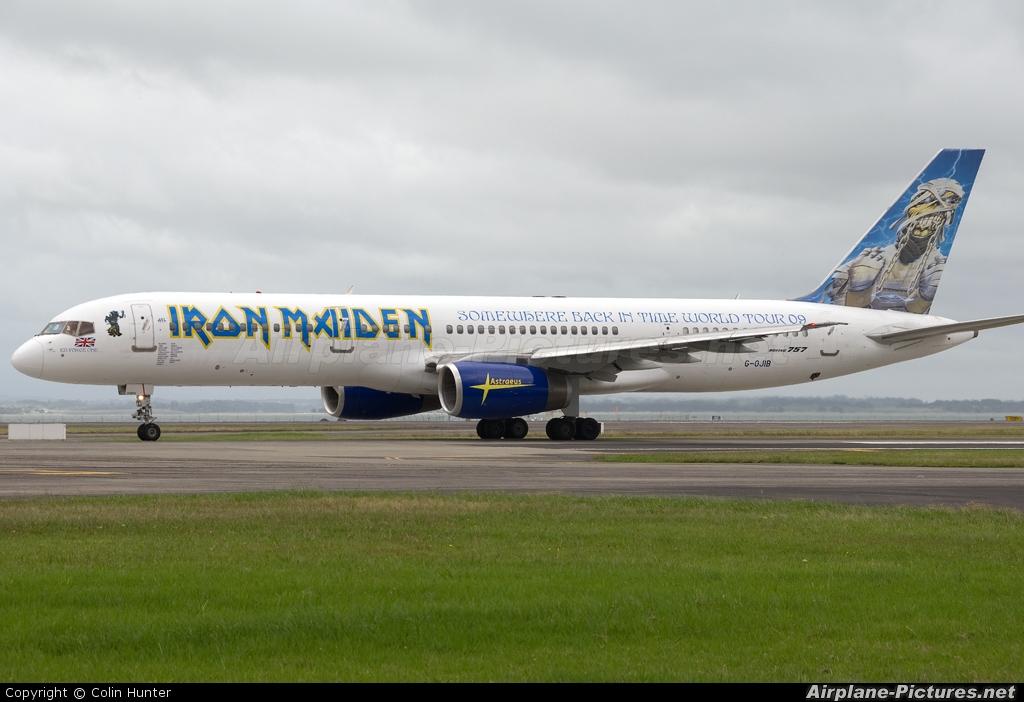 Astraeus G-OJIB aircraft at Auckland Intl