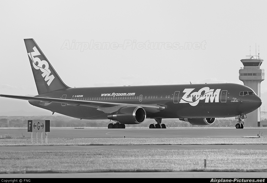 Zoom Airlines CGZUM aircraft at Calgary Intl, AB