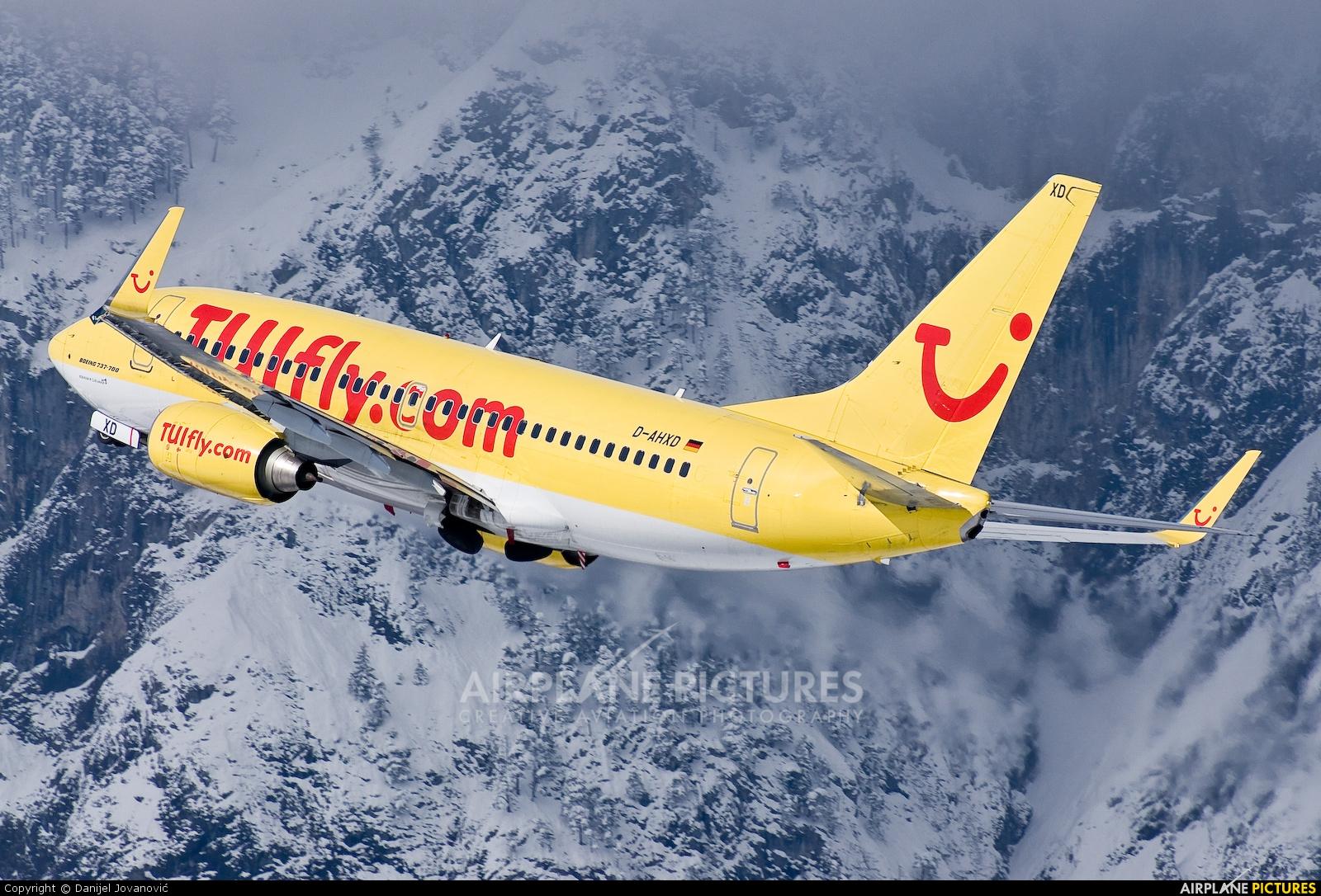 TUIfly D-AHXD aircraft at Innsbruck