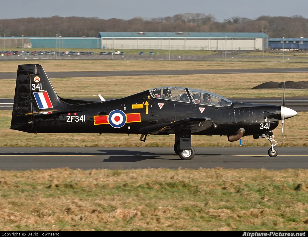 Royal Air Force ZF341 aircraft at Prestwick