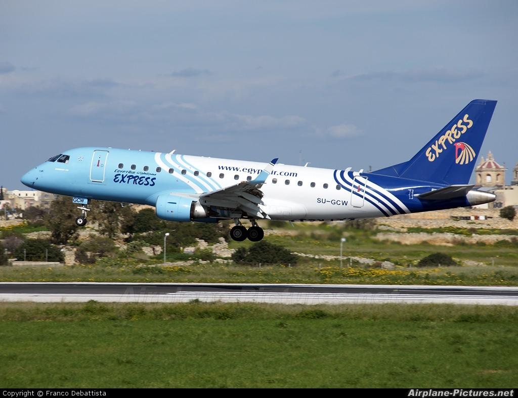 Egyptair Express SU-GCW aircraft at Malta Intl