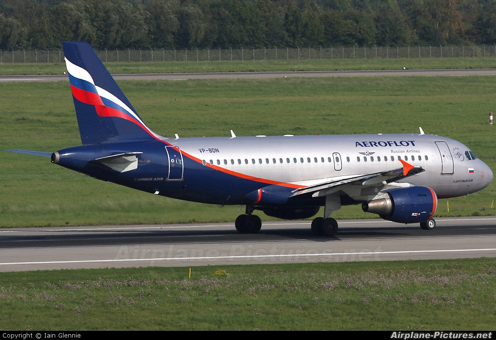 Aeroflot VP-BDN aircraft at Düsseldorf