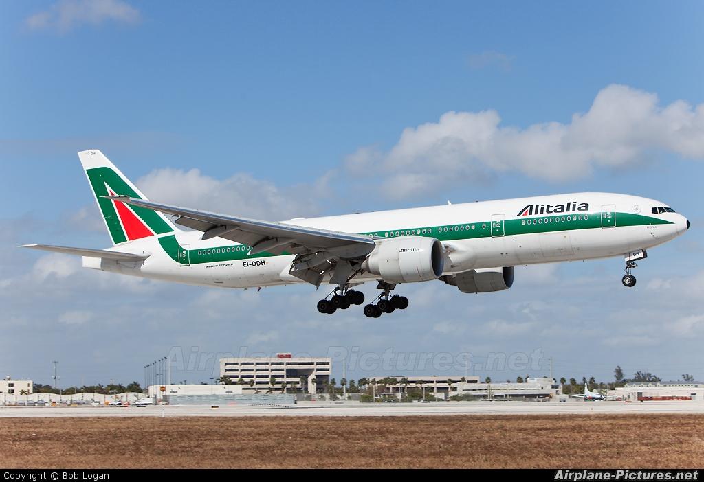 Jet Privato Alitalia : Ei ddh alitalia boeing er at miami intl photo