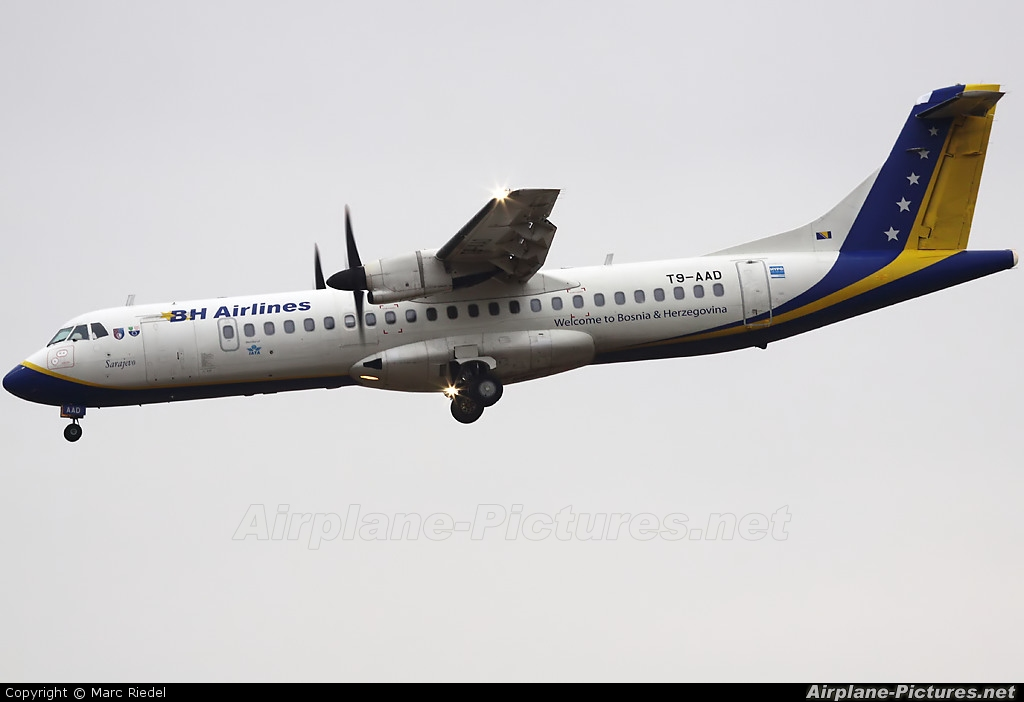 Air Bosnia - BH Airlines T9-AAD aircraft at Zurich