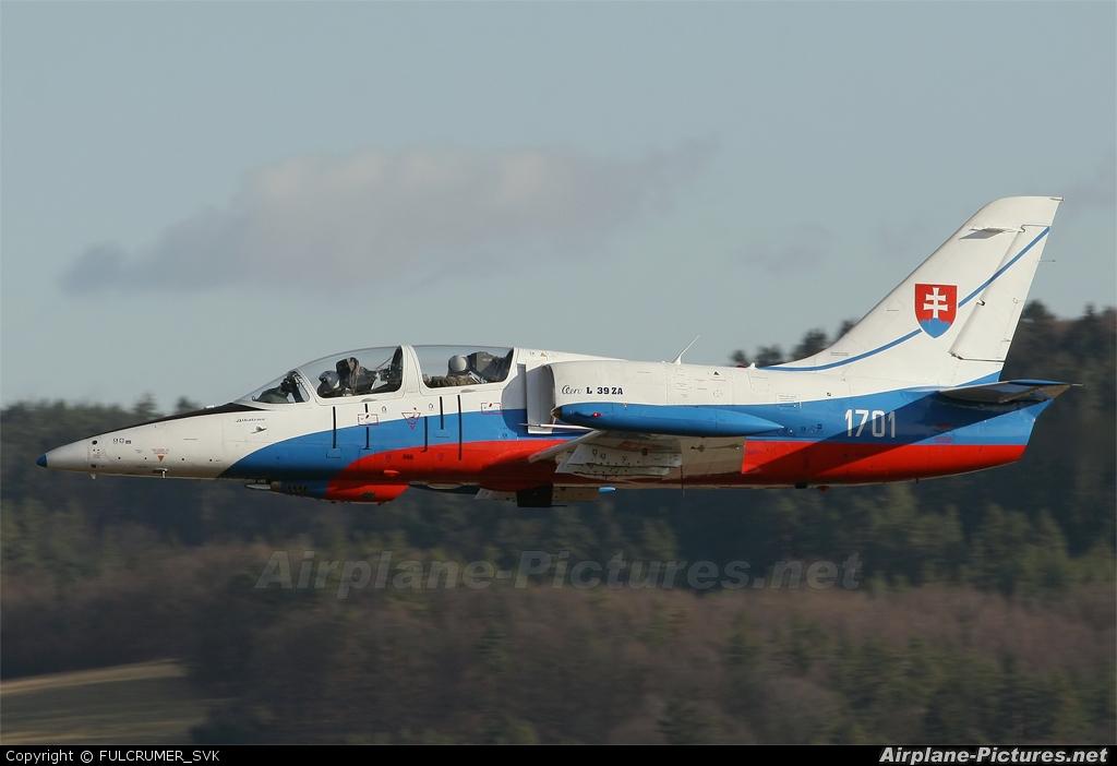 Slovakia -  Air Force 1701 aircraft at Off Airport - Slovakia