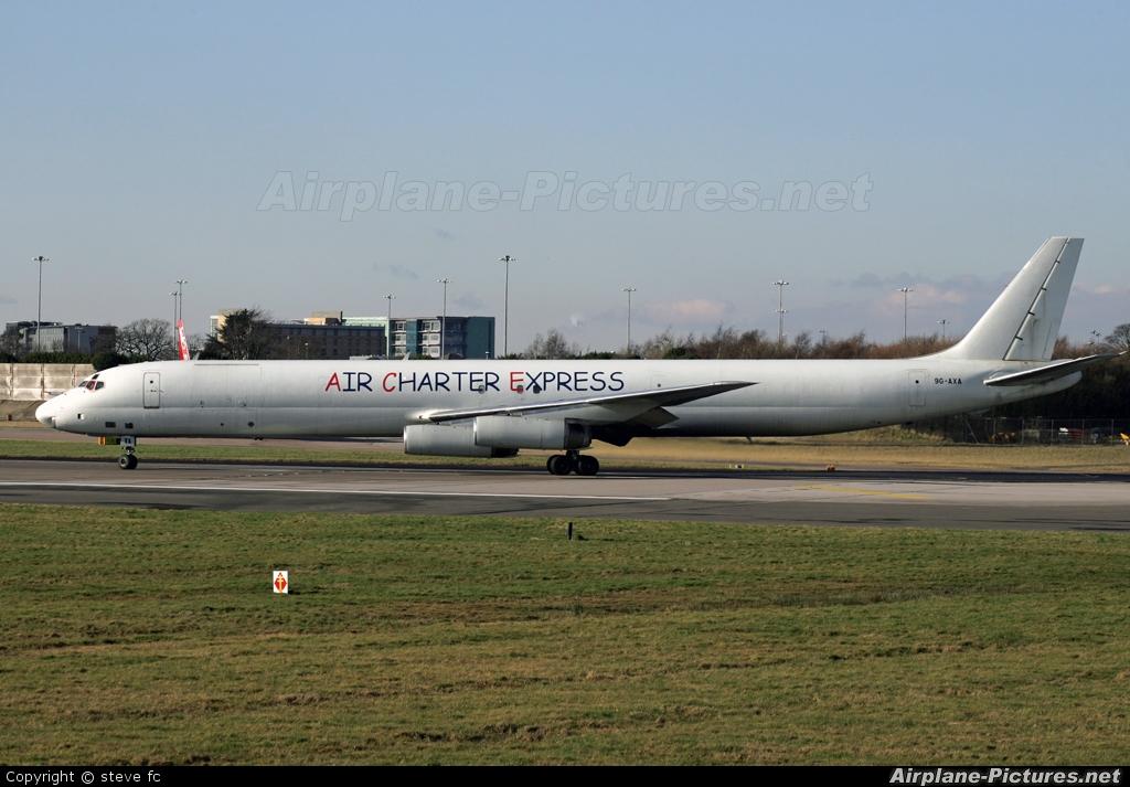 Air Charter Express 9G-AXA aircraft at Manchester