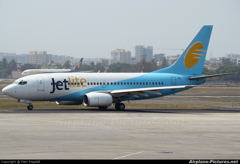 Jet Lite India VT-JLA aircraft at Mumbai - Chhatrapati Shivaji Intl