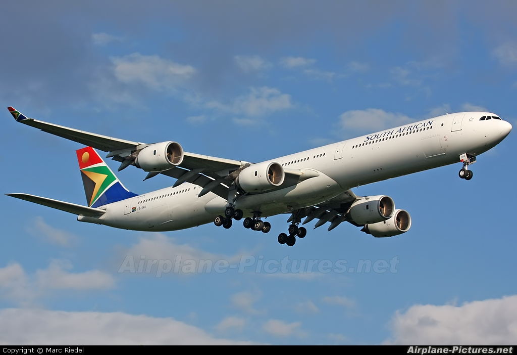 South African Airways ZS-SND aircraft at Frankfurt