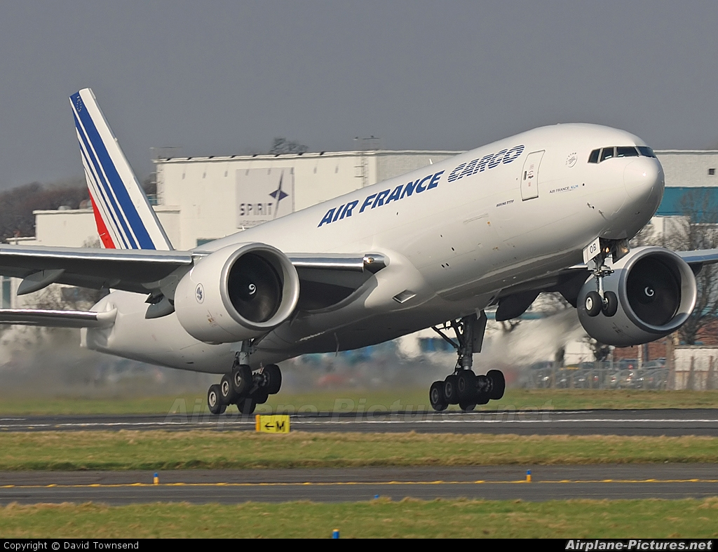 Air France Cargo F-GUOB aircraft at Prestwick