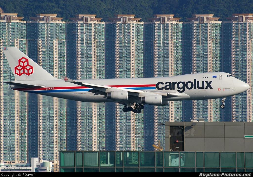 Cargolux LX-UCV aircraft at HKG - Chek Lap Kok Intl