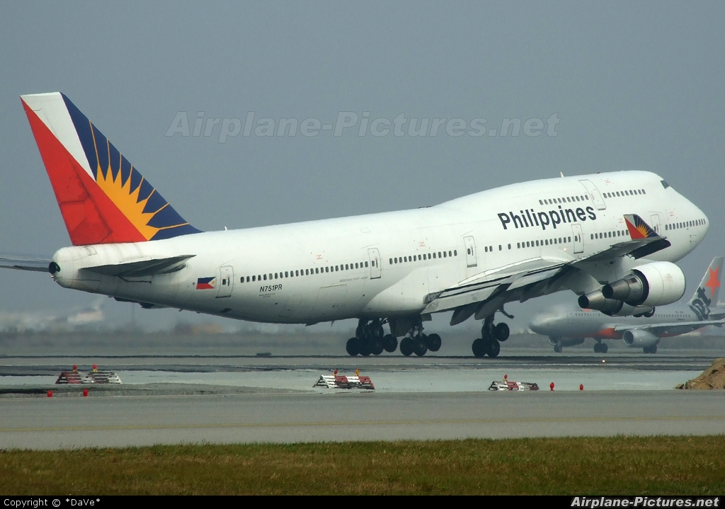 Philippines Airlines N751PR aircraft at HKG - Chek Lap Kok Intl
