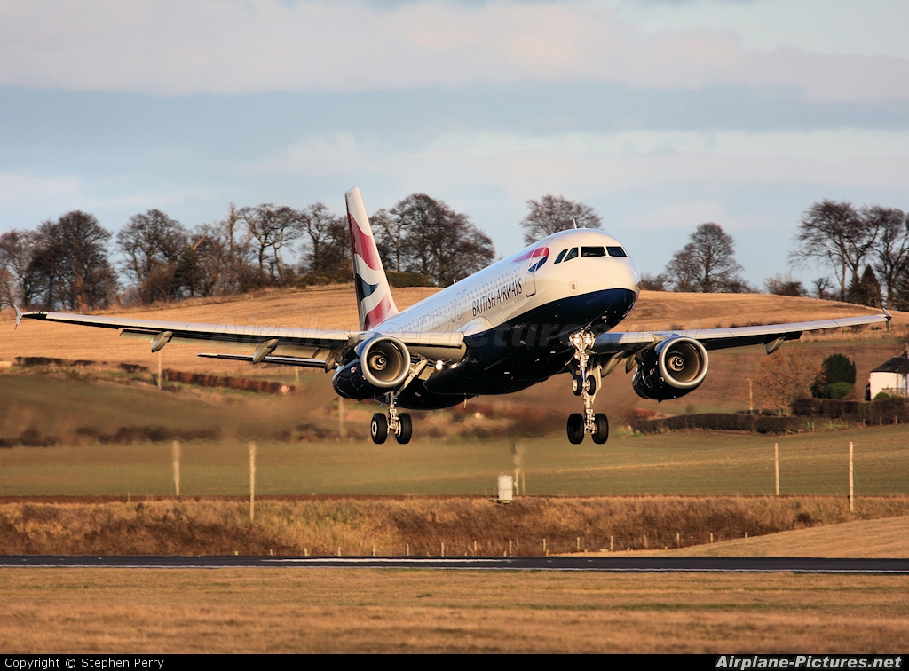 British Airways G-EUUU aircraft at Edinburgh