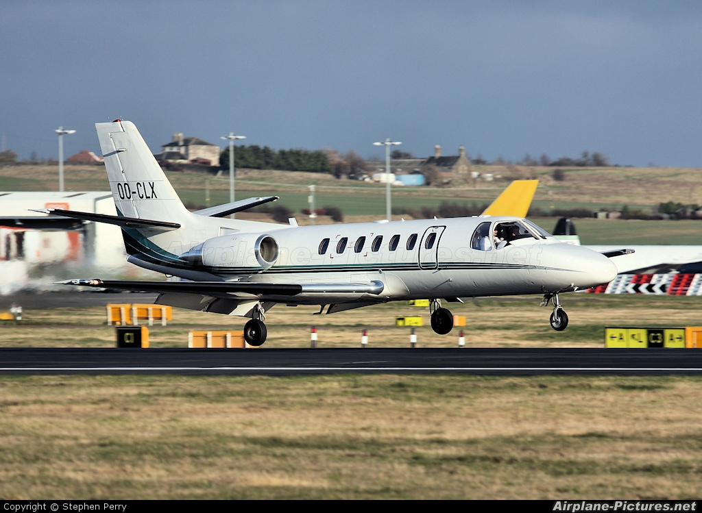 Abelag Aviation OO-CLX aircraft at Edinburgh