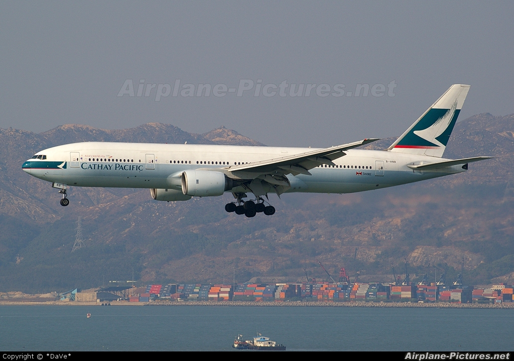 Cathay Pacific B-HNB aircraft at HKG - Chek Lap Kok Intl