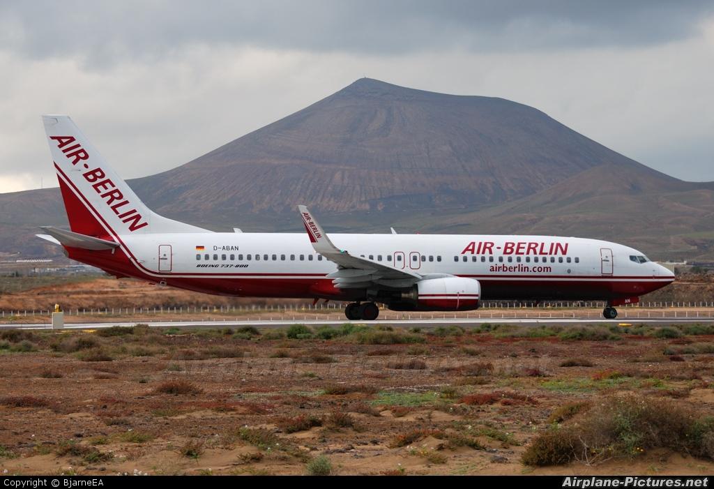 Air Berlin D-ABAN aircraft at Lanzarote - Arrecife