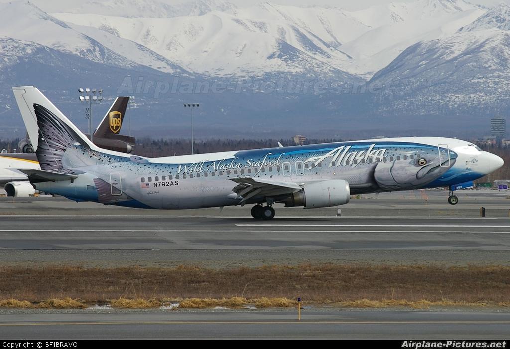 Alaska Airlines N792AS aircraft at Anchorage - Ted Stevens Intl / Kulis Air National Guard Base