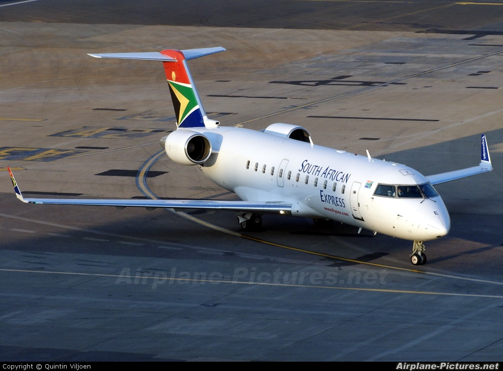 South African Express ZS-NME aircraft at Johannesburg - OR Tambo Intl