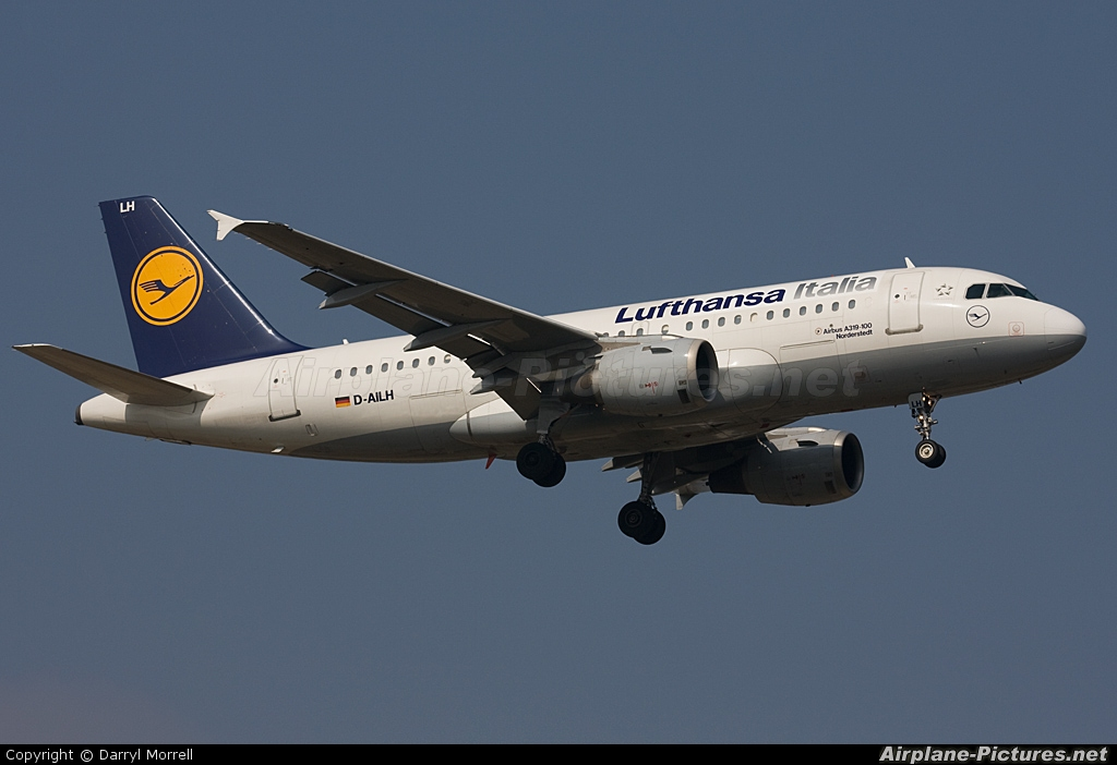 Lufthansa Italia D-AILH aircraft at London - Heathrow