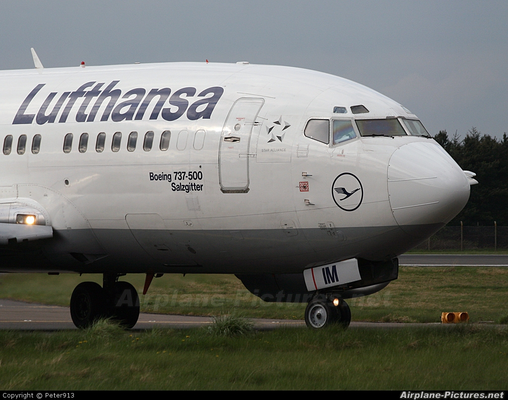 Lufthansa D-ABIM aircraft at Edinburgh