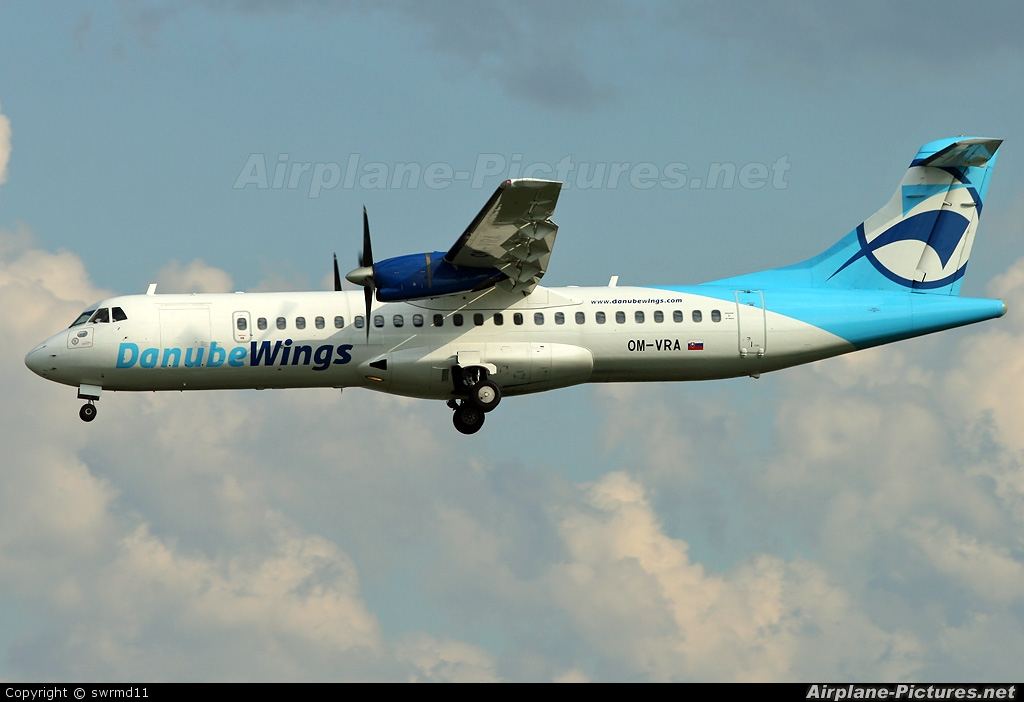 Danube Wings OM-VRA aircraft at Geneva Intl