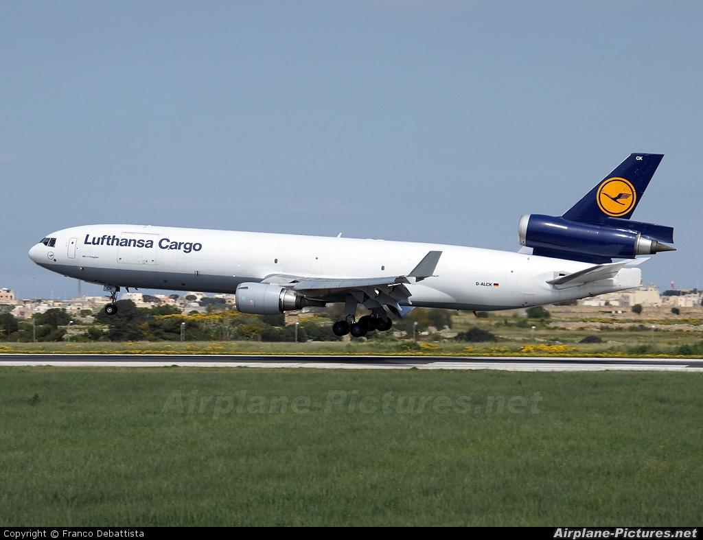 Lufthansa Cargo D-ALCK aircraft at Malta Intl