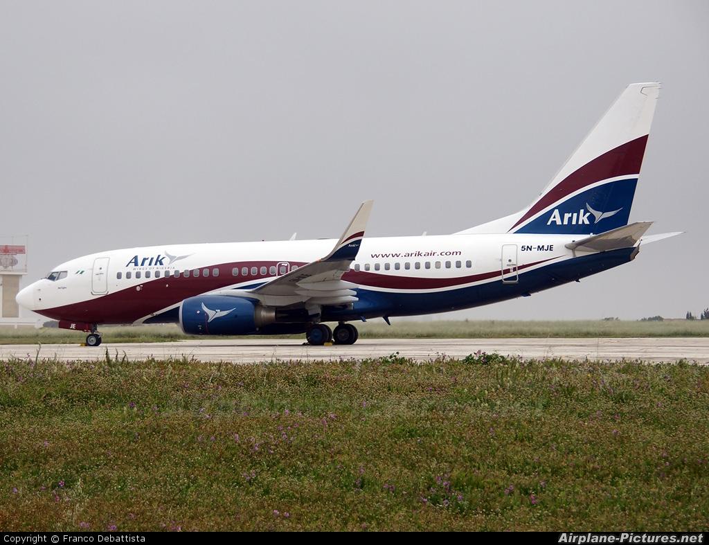 Arik Air 5N-MJE aircraft at Malta Intl