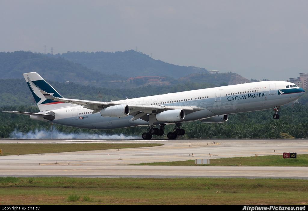 Cathay Pacific B-HXD aircraft at Kuala Lumpur Intl