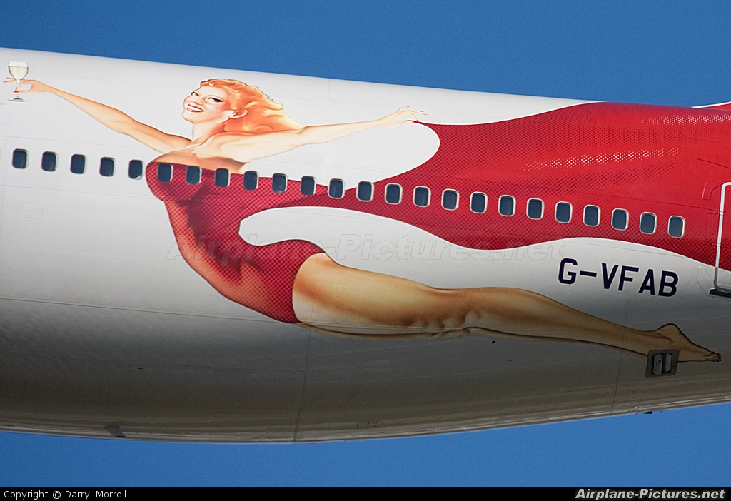 Virgin Atlantic G-VFAB aircraft at London - Heathrow