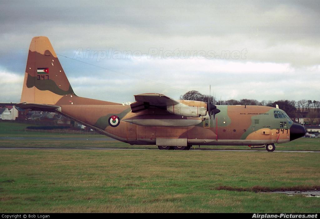 Jordan - Air Force 347 aircraft at Prestwick