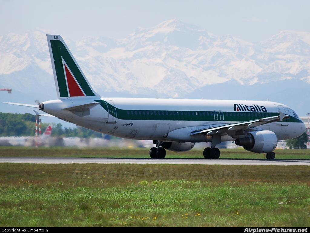 Alitalia I-BIKO aircraft at Milan - Malpensa
