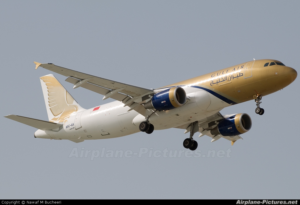 Gulf Air A9C-AA aircraft at Bahrain Intl