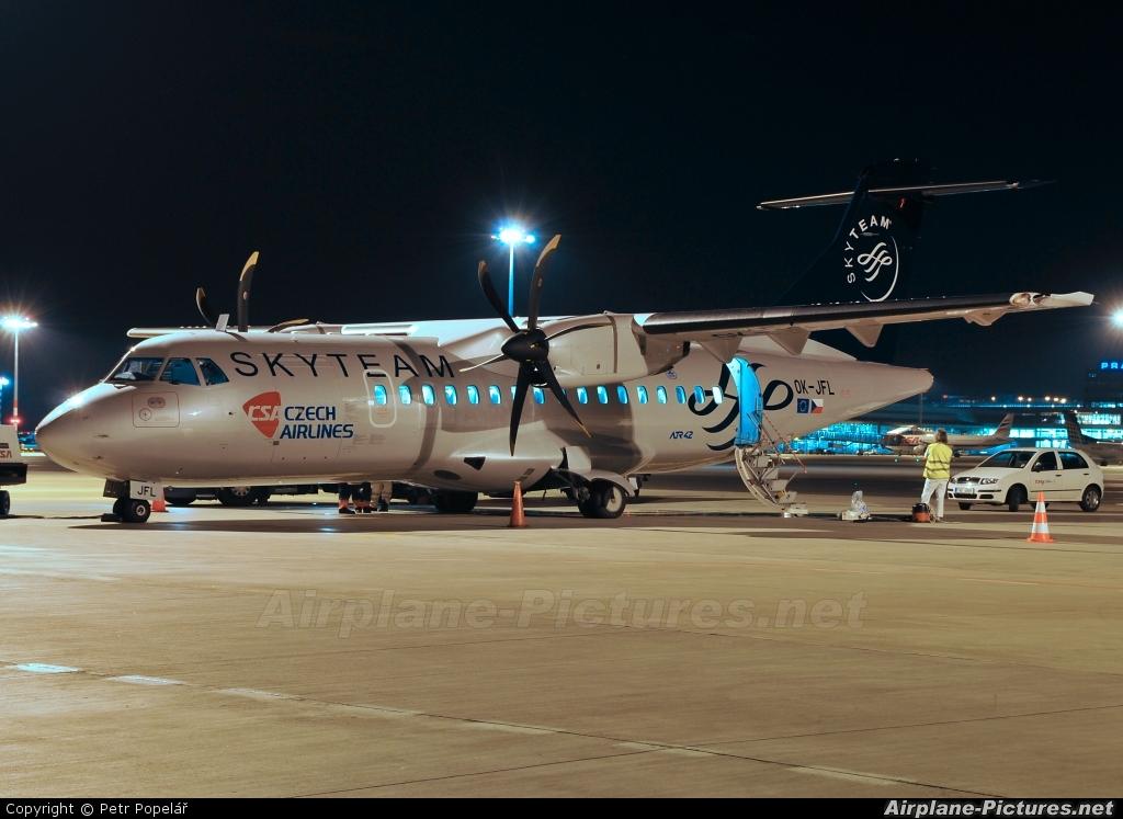 CSA - Czech Airlines OK-JFL aircraft at Prague - Václav Havel