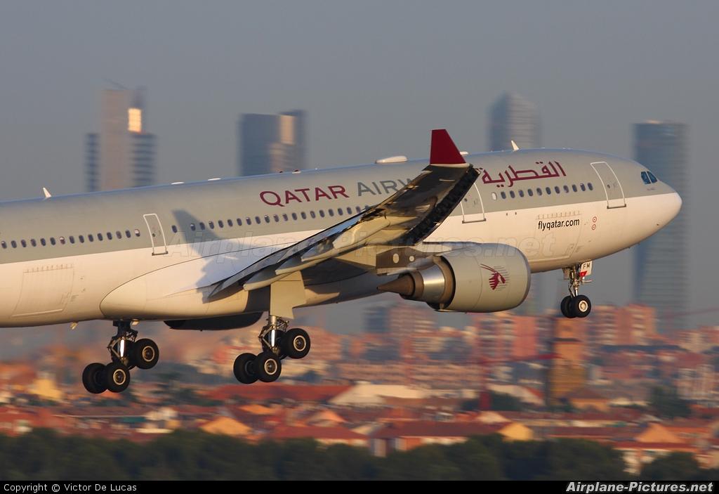 Qatar Airways A7-AFM aircraft at Madrid - Barajas