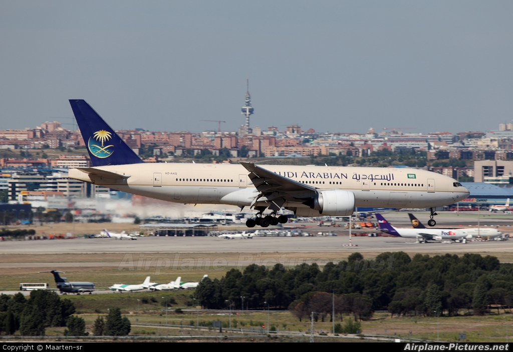 Saudi Arabian Airlines HZ-AKQ aircraft at Madrid - Barajas