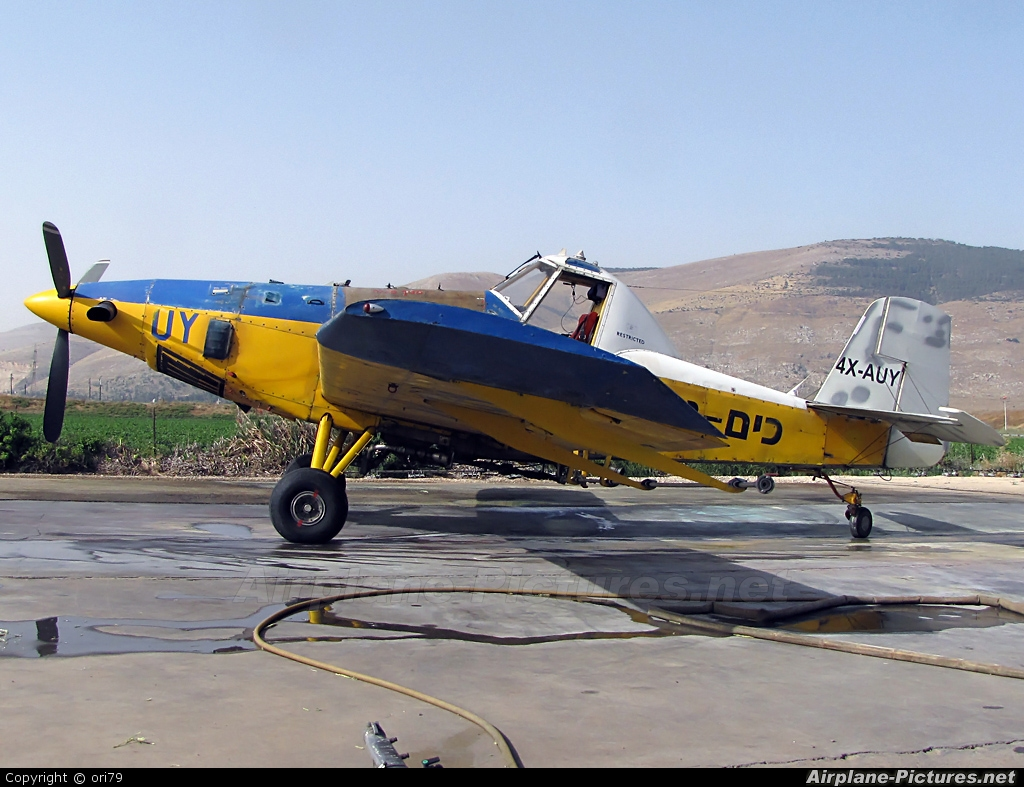 Chim-Nir Aviation 4X-AUY aircraft at Beit Hashita - Eliaz