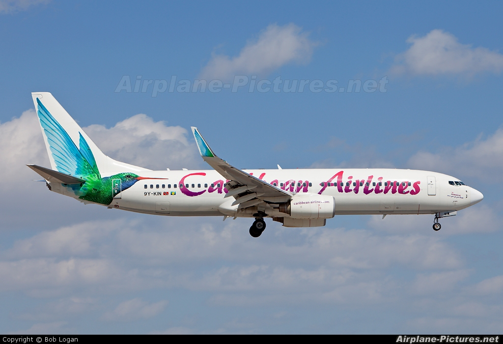 Caribbean Airlines  9Y-KIN aircraft at Miami Intl