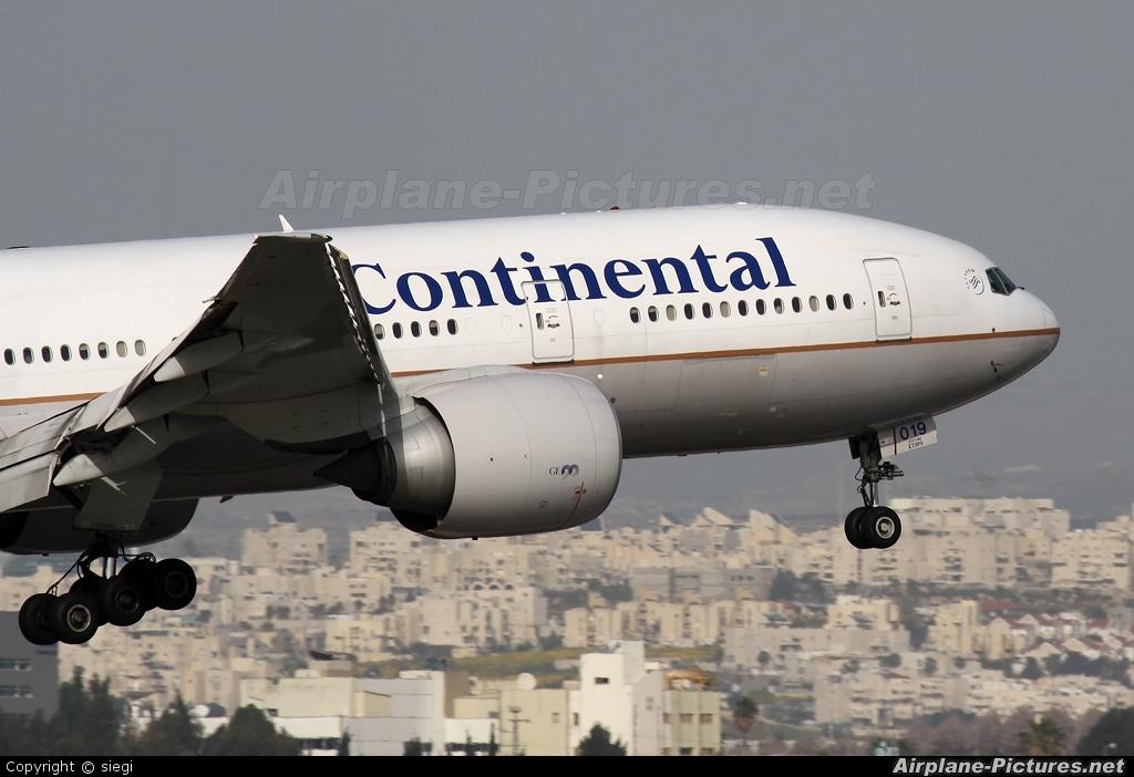Continental Airlines N77019 aircraft at Tel Aviv - Ben Gurion