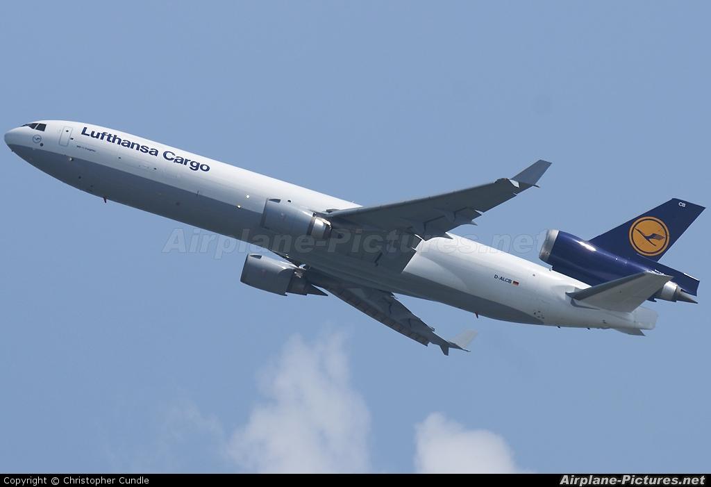 Lufthansa Cargo D-ALCB aircraft at HKG - Chek Lap Kok Intl