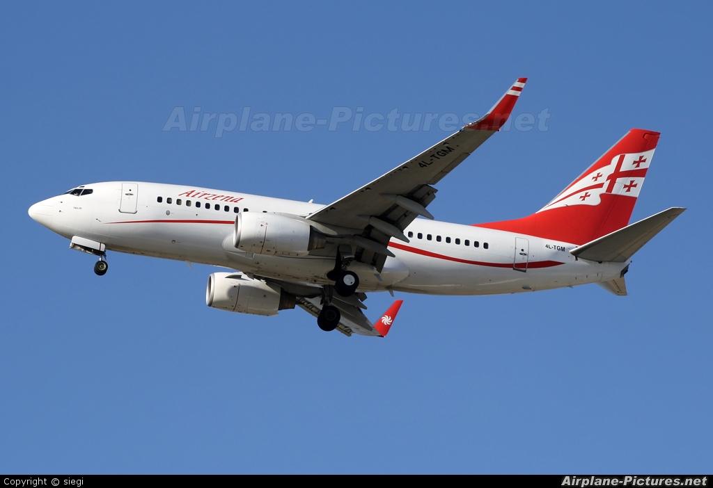 Airzena - Georgian Airlines 4L-TGM aircraft at Tel Aviv - Ben Gurion