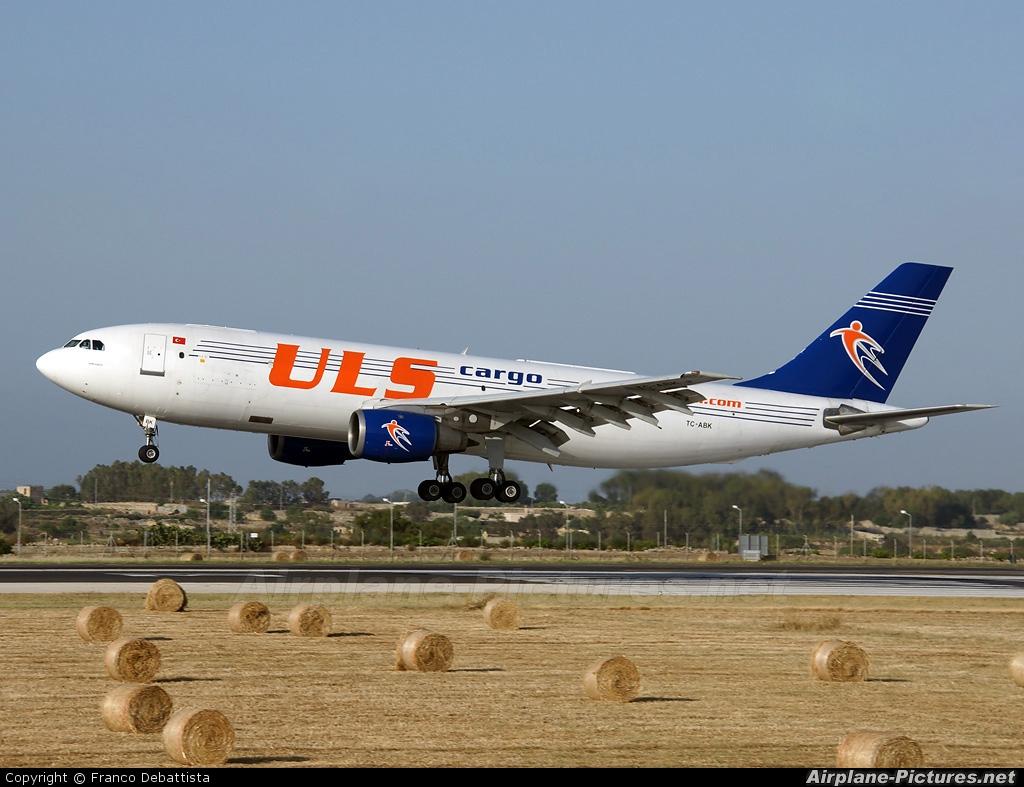 ULS Cargo TC-ABK aircraft at Malta Intl