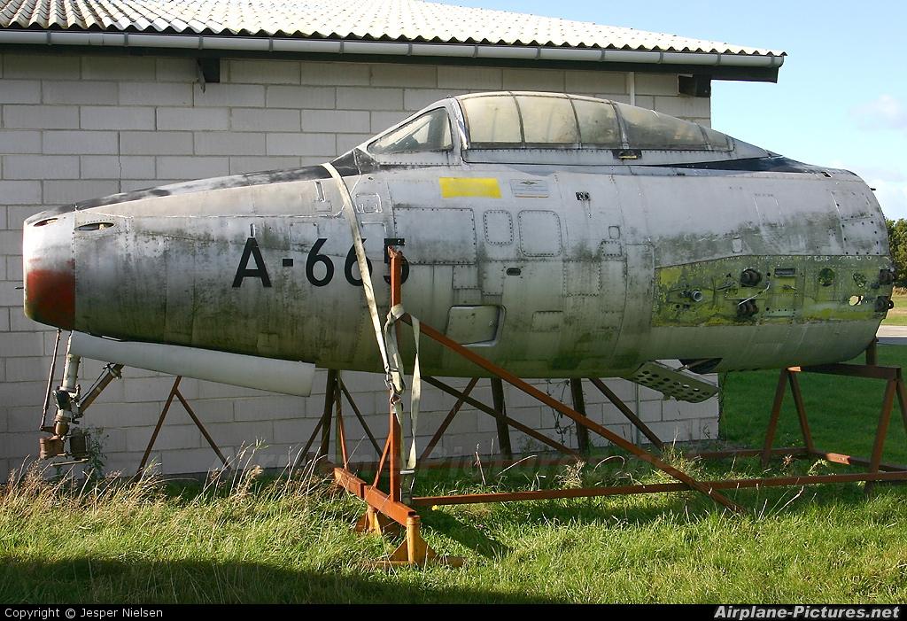 Denmark - Air Force A-665 aircraft at Stauning