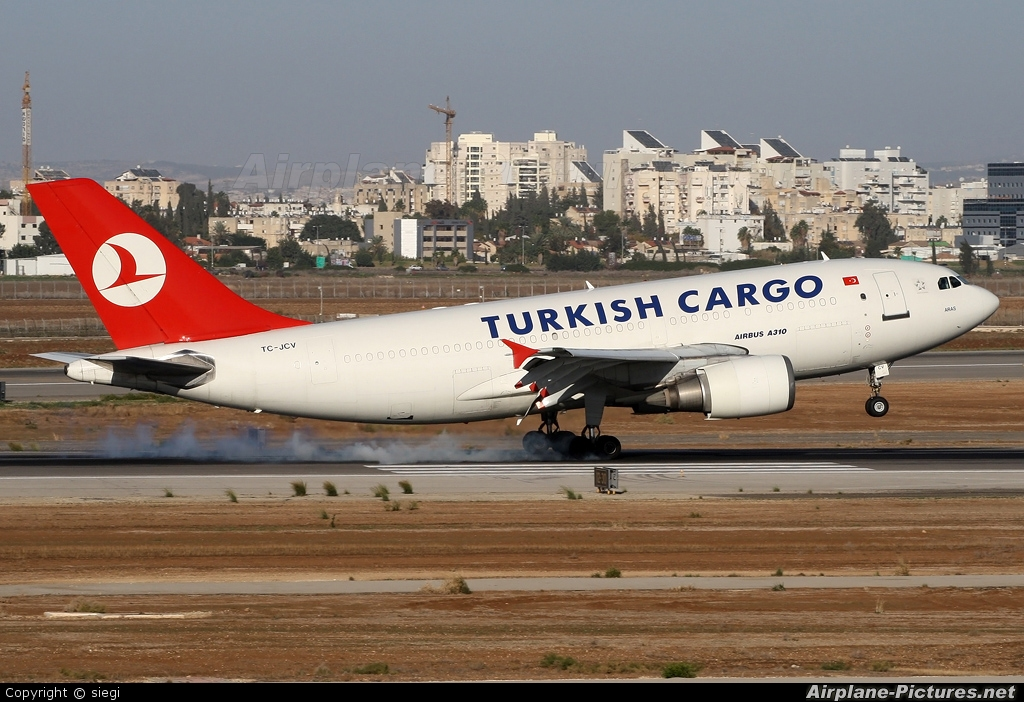 Turkish Cargo TC-JCV aircraft at Tel Aviv - Ben Gurion
