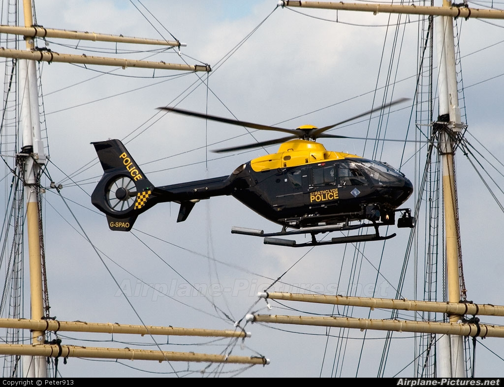 UK - Police Services G-SPAO aircraft at Glasgow - Heliport