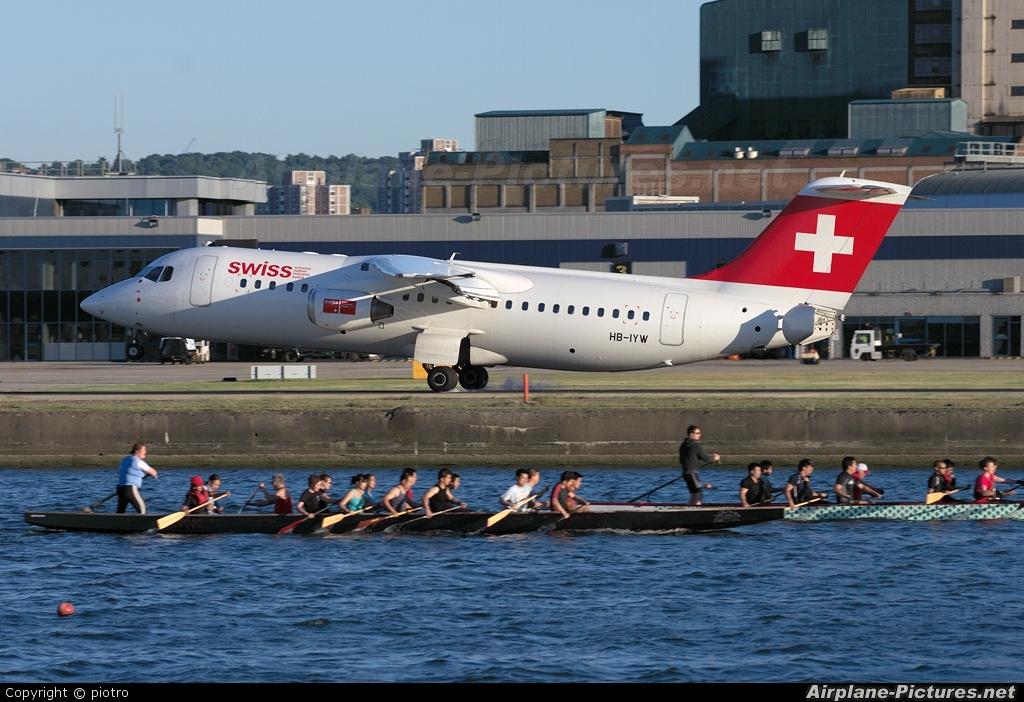 Swiss HB-IYW aircraft at London - City