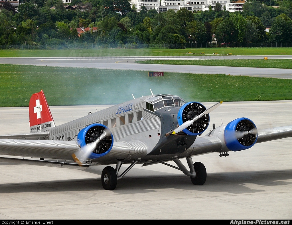 Ju-Air HB-HOT aircraft at Innsbruck