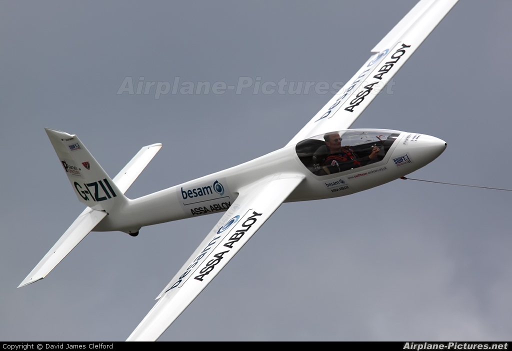 Swift Aerobatic Display Team G-IZII aircraft at Kemble