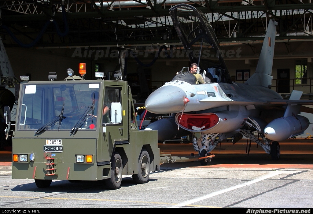 Belgium - Air Force FB-15 aircraft at Florennes