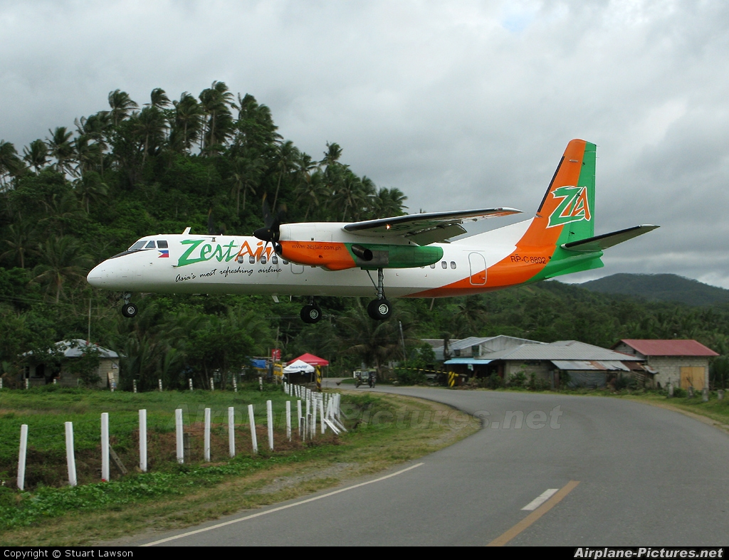 Zest Air RP-C8892 aircraft at Caticlan