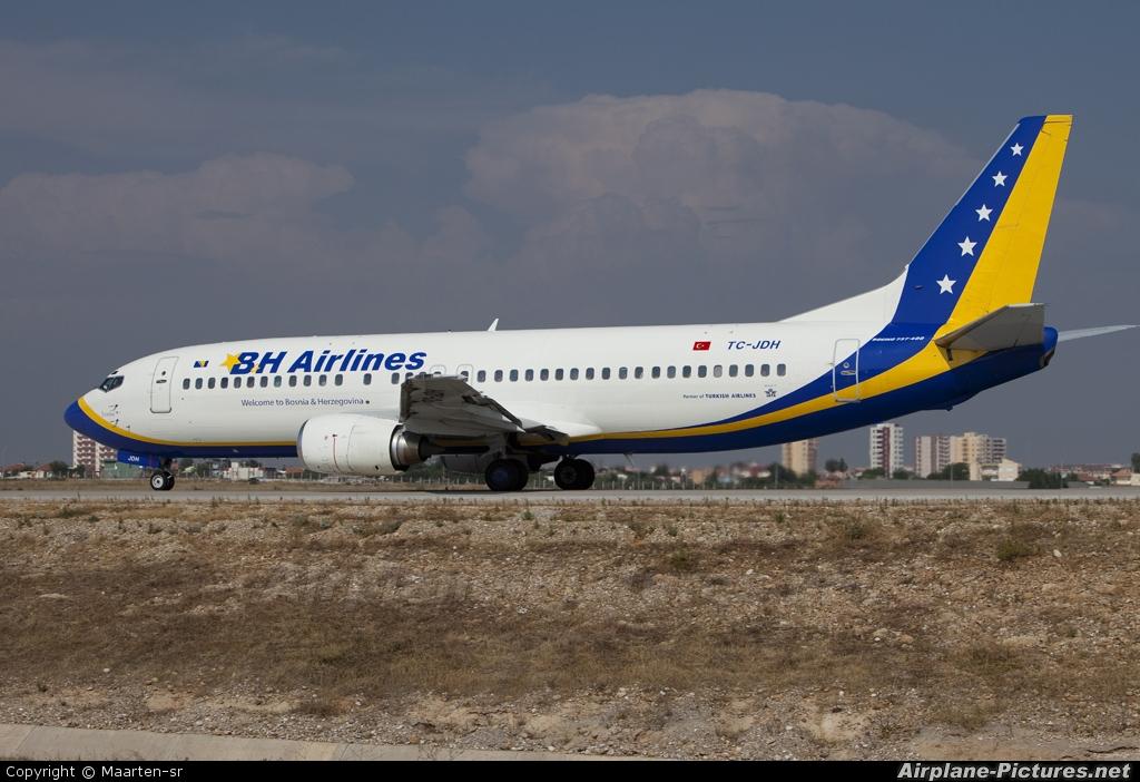 Air Bosnia - BH Airlines TC-JDH aircraft at Antalya